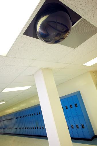 Video surveillance cameras were a major part of the $2.7 billion schools spent on security systems in 2013. Photo: Getty Images