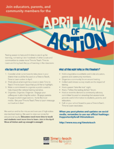Download the Wave of Action flyer and learn how to get involved