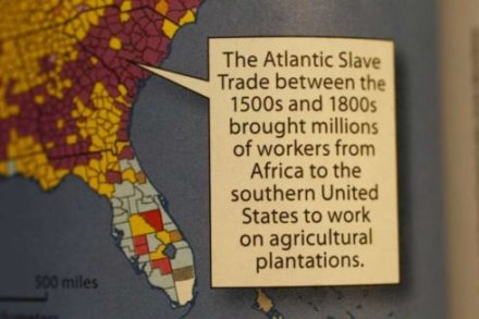 "This caption identifying slaves as ""workers"" appears in a McGraw-Hill World Geography textbook. A parent's protest - fueled by a video that went viral - forced the publisher to apologize and promise a correction."