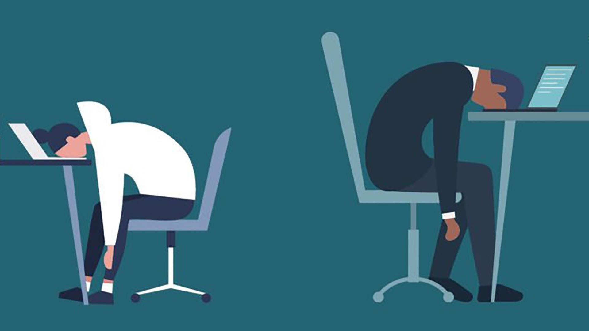 Illustration of burnout