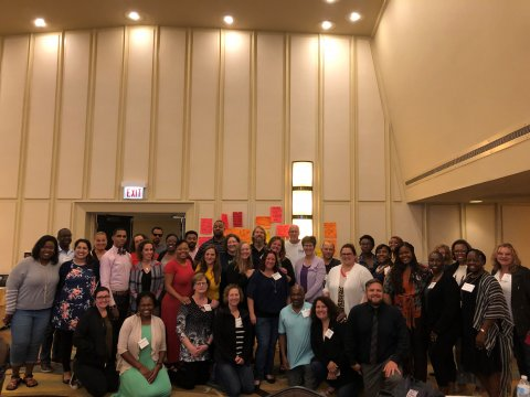 Virtual coaches and leads at the TQ Coaches Convening to learn and practice skills to support early career educators.