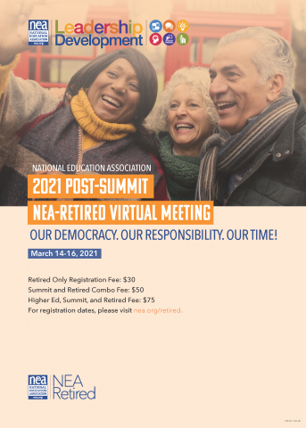 Poster for NEA Retired Meeting