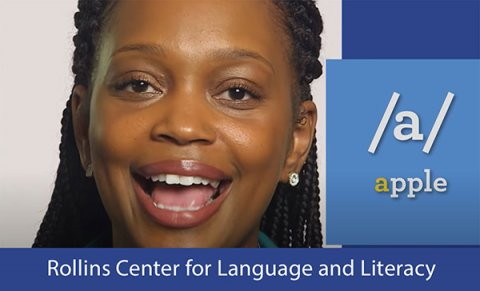 Screenshot of reading instruction module from the Rollins Center for Language and Literacy